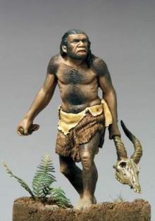 原始人スタイル猫背